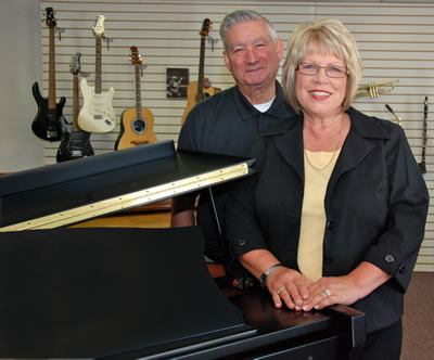Deb and Ken Kespohl, owners of Ann's Music World